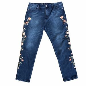DG2 by Diane Gilman Embroidered Stretch Jeans 16W
